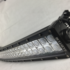 288w Dual Row 50 Curved LED Light bar 6000k Bright White Light Bullseye Products 4x4