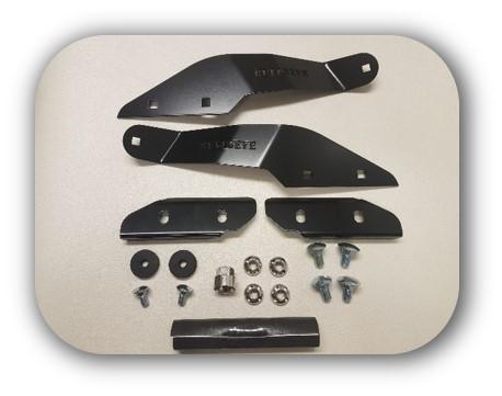 "Toyota LandCruiser 79/76 Series Black Brackets for 50"" Curved Screen Light Bar Bullseye Products 4x4 Lilydale Melbourne Australia"