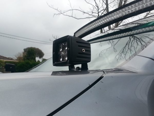 3″ 20W 4D SQUARE DRIVING LIGHT (PAIR) installed image 01