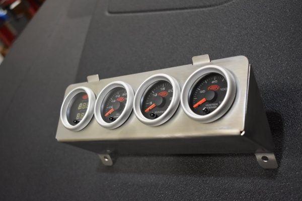Nissan Patrol GU Gauge Pod Mount - 4x Socket - Stainless (Mount Only) Bullseye Products 4x4 Lilydale Melbourne Australia