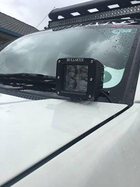 Bullseye Products cowl ditch light bonnet mount side lights pod lights Melbourne Lilydale Australia 4x4 Mitsubishi Triton