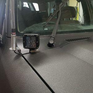 Nissan GU Patrol Cowl Mount Ditch Light Bonnet Mount Side lights pod lights
