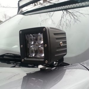 Nissan NP300 Navara Cowl Ditch light Bonnet mount side lights Pod lights Bullseye lilydale Products Melbourne Australia