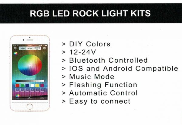 LED rock pod light colour changing Lilydale Melbourne Bullseye Products 4x4