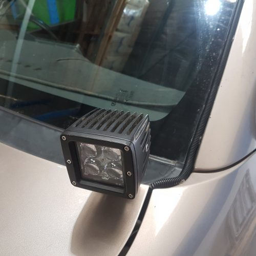 cowl ditch light bonet mount side lights pod lights bullseye products 4x4 cars Lilydale Melbourne Australia LED 20W 4D Square 50000 hours